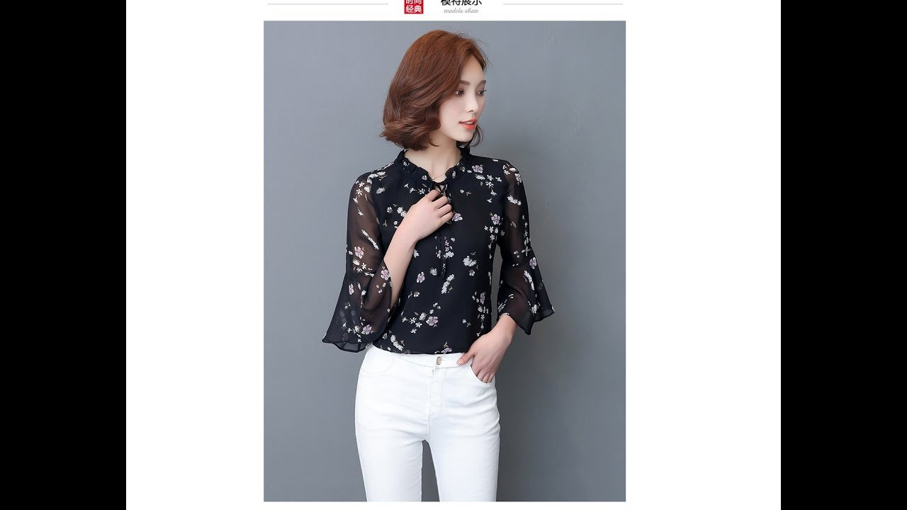 блузки женские стильные шифон интернет магазин - YouTube