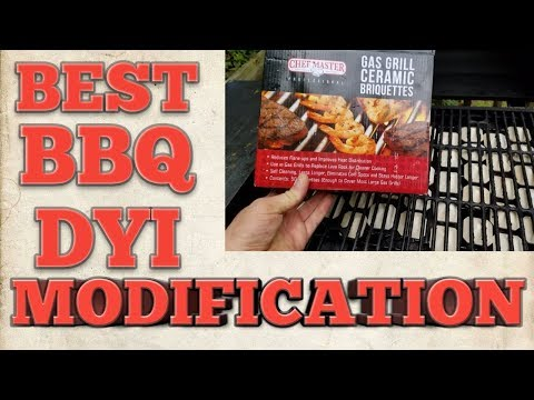 DYI Best BBq Modification Any Gas Grill BBQ - Even Heat Rock Deflector - Propane or Natural Gas