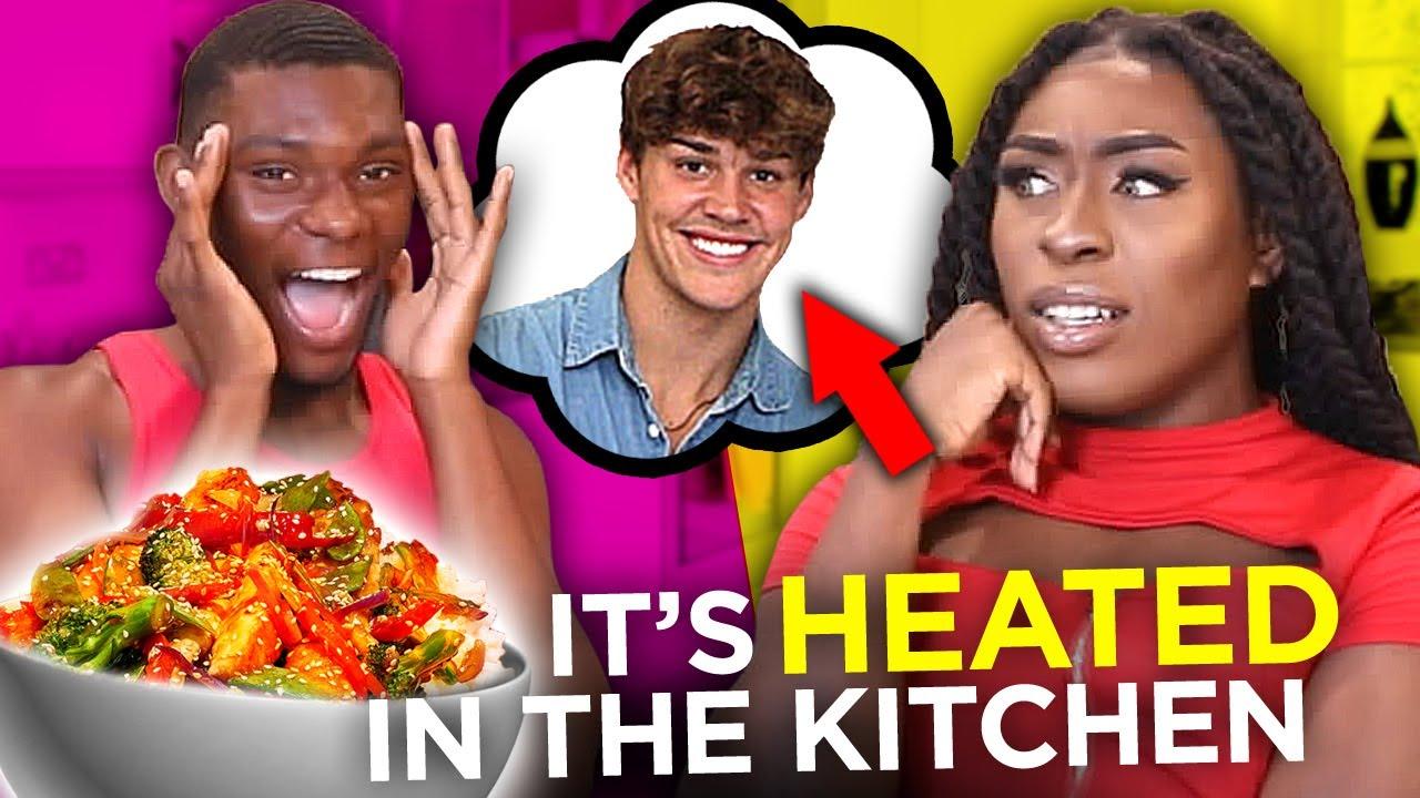 Tik Tok crush EXPOSED by boyfriend in Stir fry cooking challenge   Dish This w/ Dennis & Tyshon