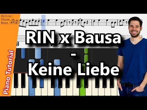 RIN x Bausa - Keine Liebe | Piano Tutorial | German