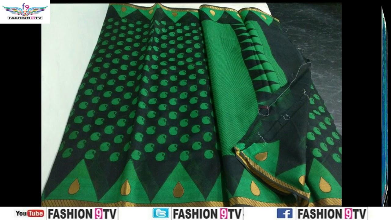 dd1f5636b latest designer chanderi silk sarees with price fashion9tv price 1750  -