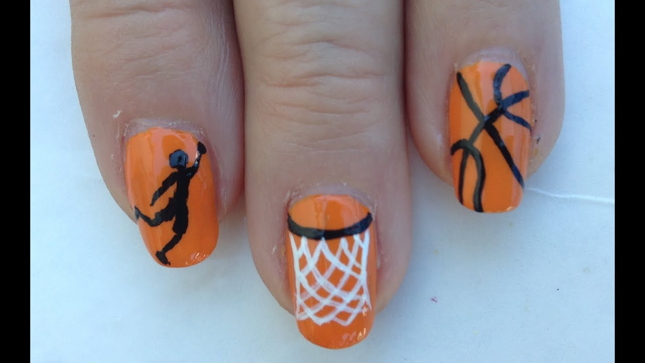Basketball Nail Art Tutorial (REQUEST) - Basketball Nail Art Tutorial (REQUEST) - YouTube