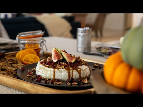 Cranberry Pecan Baked Brie With A Honey-Maple Glaze - Fall Thanksgiving Recipe
