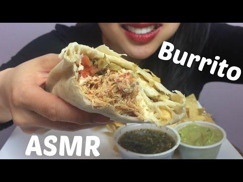 ASMR Chicken BURRITO + Chips Guacamole (EATING SOUNDS)   SAS-ASMR