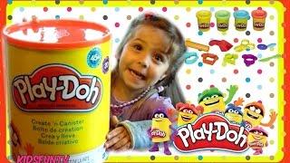 علبته العملاقة PLAY-DOH إنشاء N' اسطوانة للأطفال | 20 علب من PLAY-DOH | لعبة استعراض KFTV