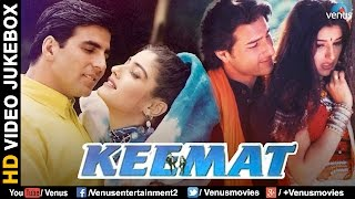 keemat bollywood romantic songs akshay kumar raveena saif sonali bendre video jukebox