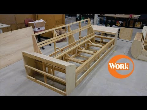 Sofá (nova estrutura) / New wooden structure (sofa part1) - YouTube