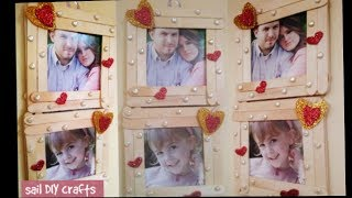 Easy and beautiful photo frame with ice cream stic