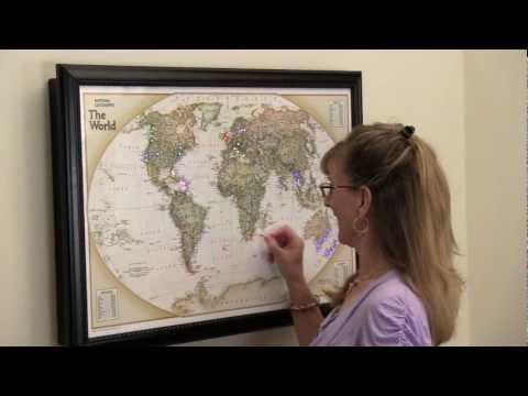 Lightravels Illuminated Wall Maps- Personalize your map with our bright & colorful Light Pegs!