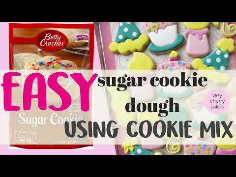 BETTY CROCKER COOKIE MIX TO MAKE DECORATED COOKIES LIKE THE PROS | VERY CHERRY CAKES