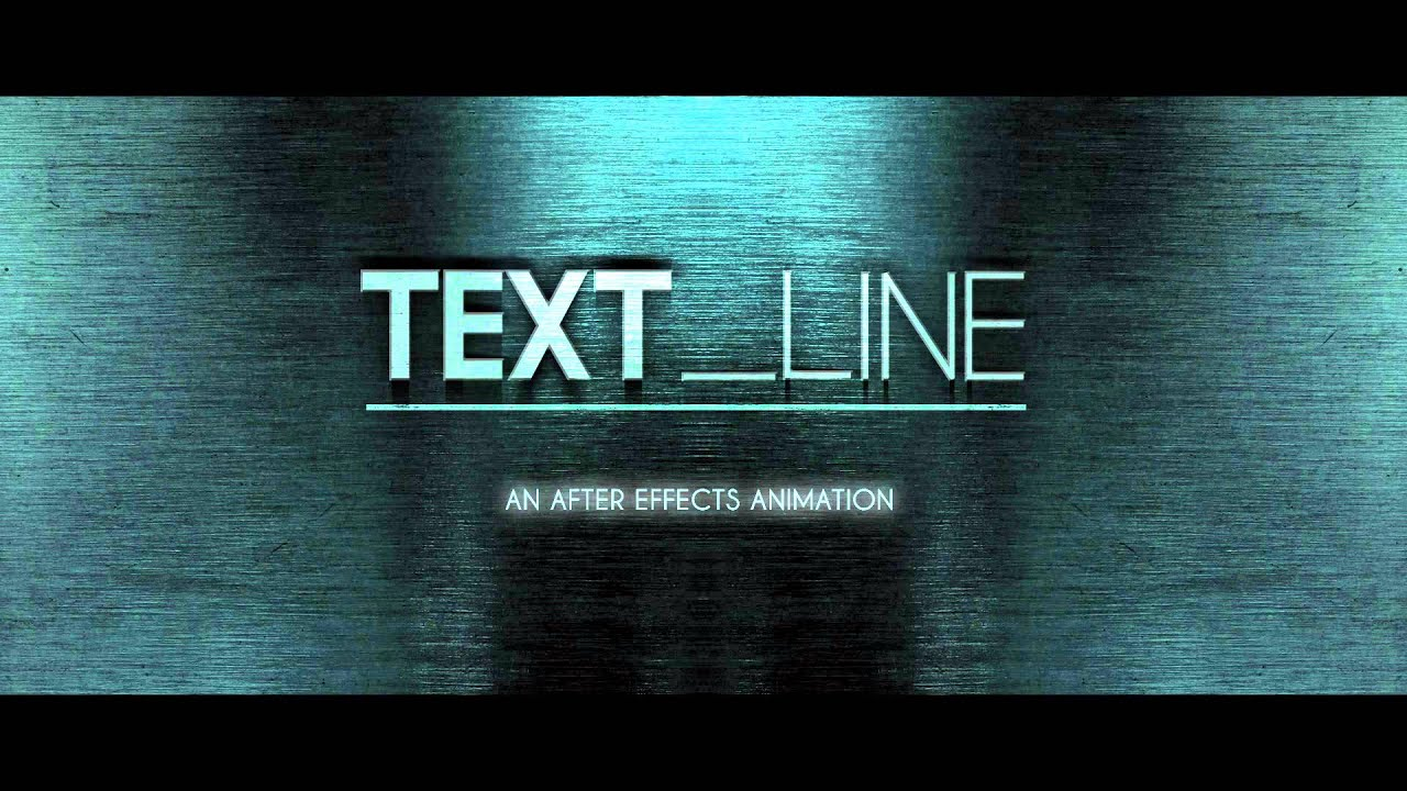 Line Art Animation After Effects : Text line after effects animation youtube