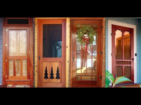 Wood Screen Door | Antique Wood Screen Door - Wood Screen Door Antique Wood Screen Door - YouTube