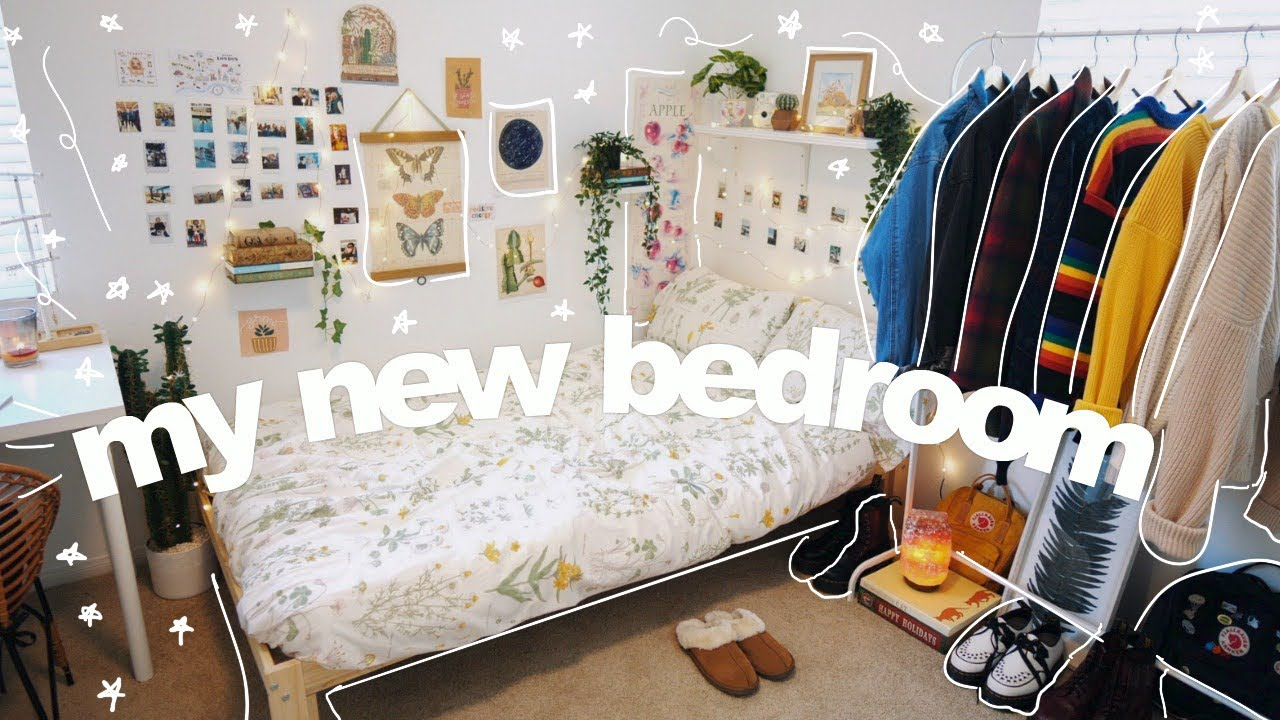 Bedroom Makeover Room Tour Cozy Aesthetic Bedroom Of My Dreams Youtube