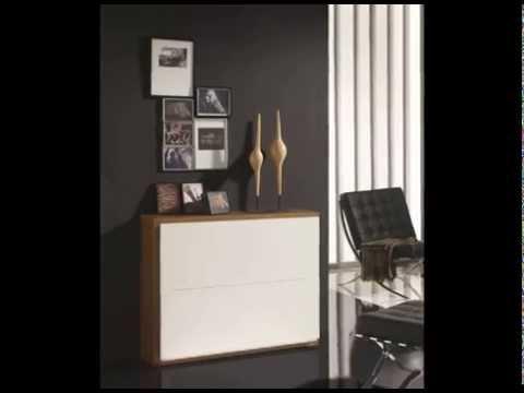 Espejos muebles auxiliares y zapateros para entradas youtube for Muebles de entrada de diseno