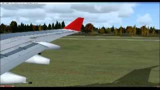 FSX A 340-300 Austrian Airlines Smooth Visual Landing in Vienna HD