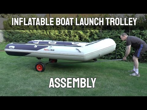 Inflatable Boat Launch Trolley Assembly