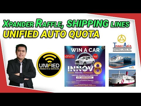 Видео: Unified Xpander Car Raffle, Shipping Lines, Auto Quota Explained
