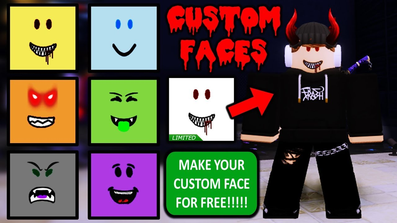 Anime Face Roblox Id Create Your Own Custom Face In Roblox Free Youtube