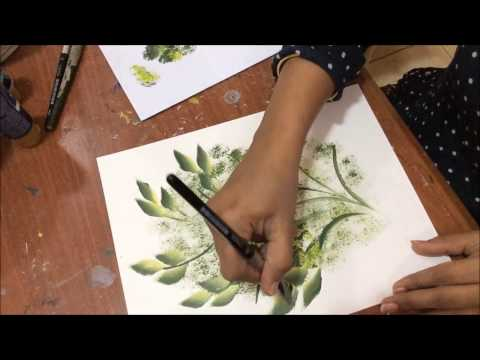 Acrylic Painting- One Stroke Technique, Decorative Art
