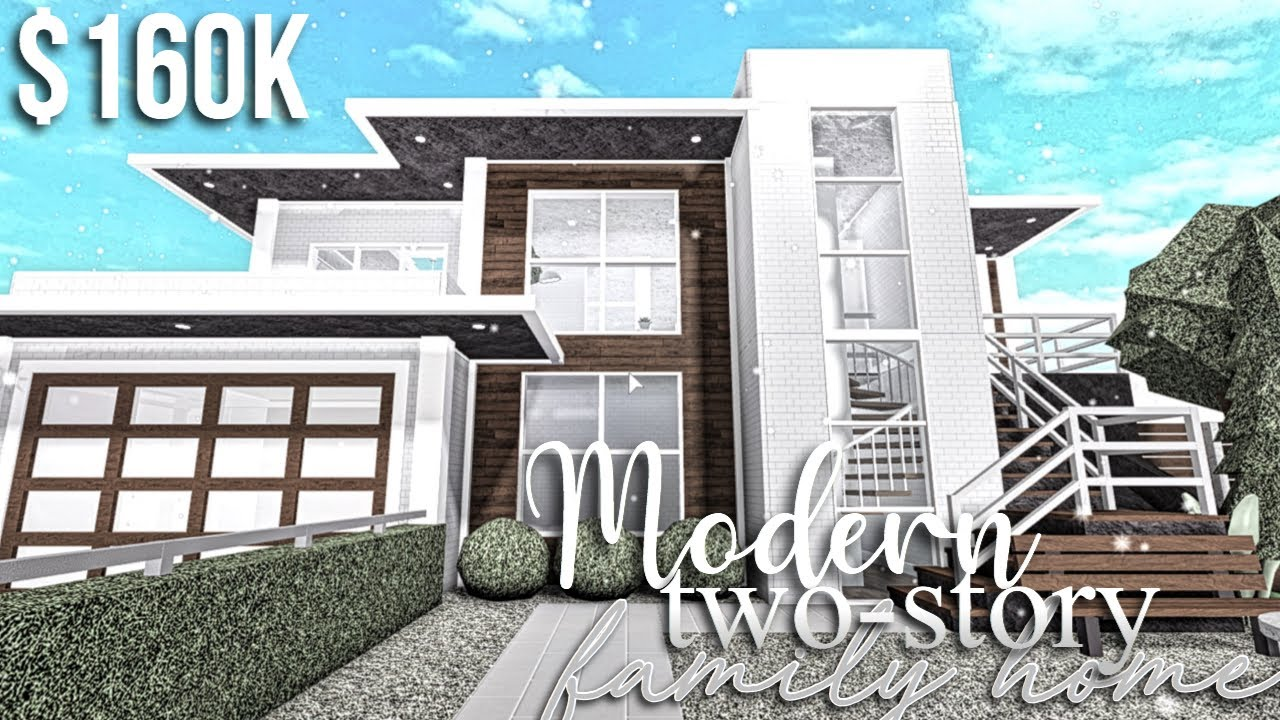Modern Two Story Family Home Roblox Bloxburg Gamingwithv Youtube