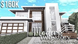Modern Two-Story Family Home   Roblox Bloxburg   GamingwithV