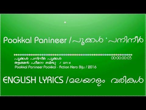 Pookkal Panineer Pookkal Lyrical Video   Action Hero Biju   HD 1080p