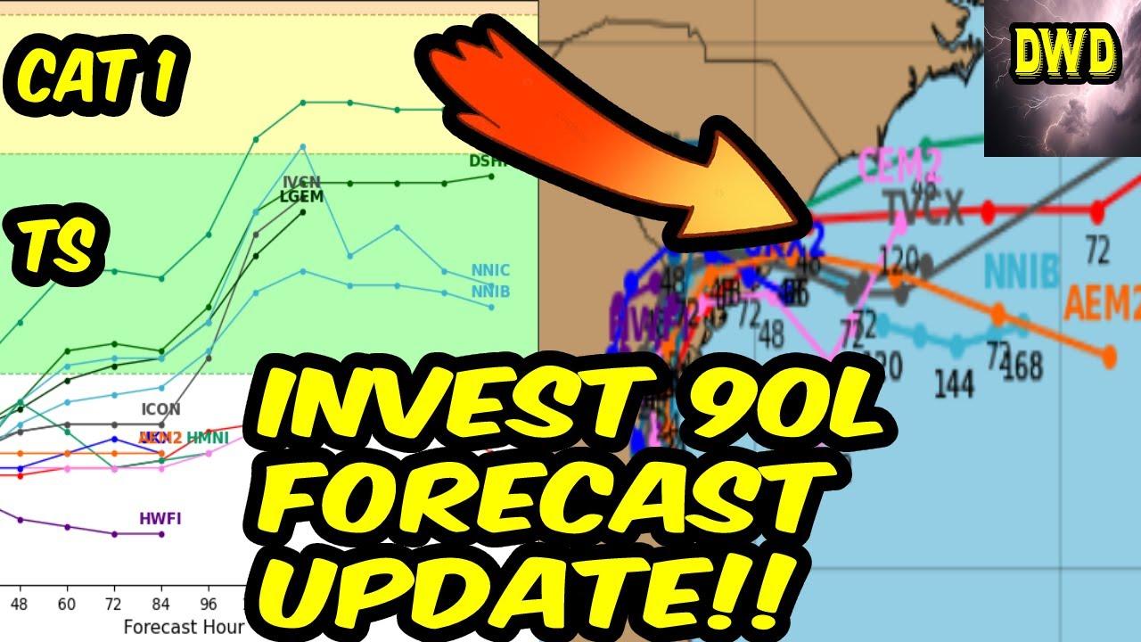 Invest 90L Forecast/Update: Potential Restrengthening???