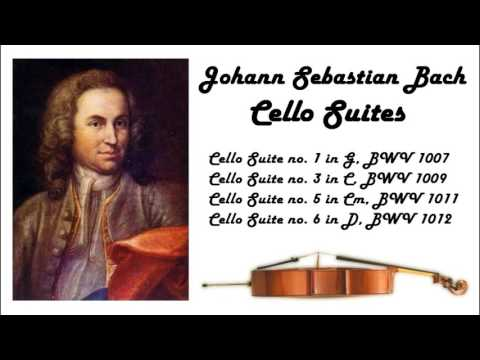 Johann Sebastian Bach  Cello suites in 432 Hz great for reading or studying!