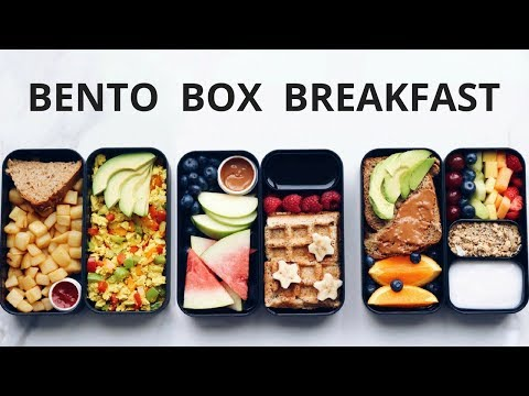 HEALTHY VEGAN BREAKFAST IN A BENTO BOX