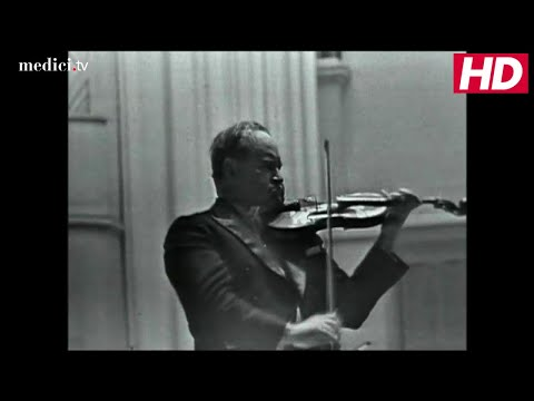 Gennadi Rozhdestvensky with David Oistrakh - Brahms: Violin Concerto in D Major