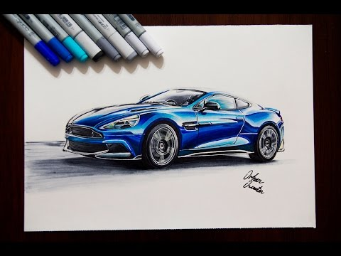 2017-aston-martin-vanquish-s-|-realistic-car-drawing