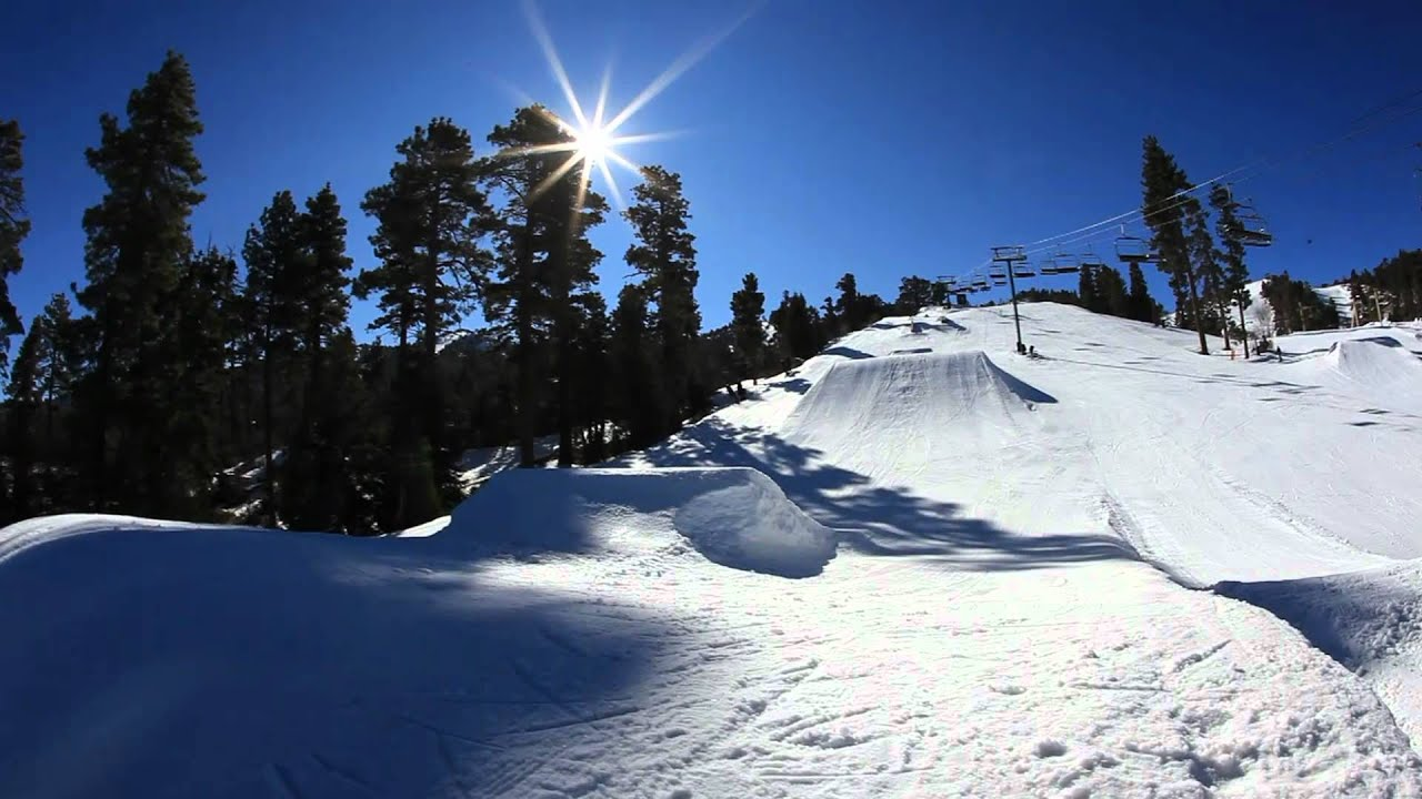 Snowboarding Big Bear Style 2012 At Bear Mountain Ca