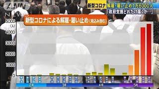 解雇・雇い止めさらに悪化 4カ月で1万6000人超え(20/06/02)
