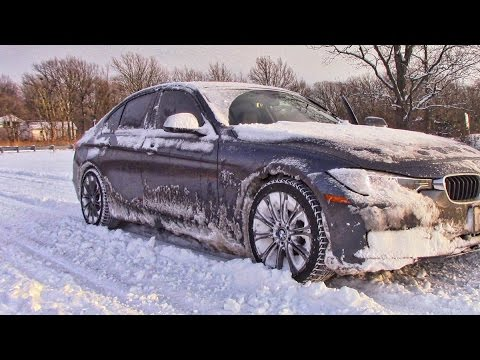 BMW in Snow 0-60 mph.  2014 328i xdrive