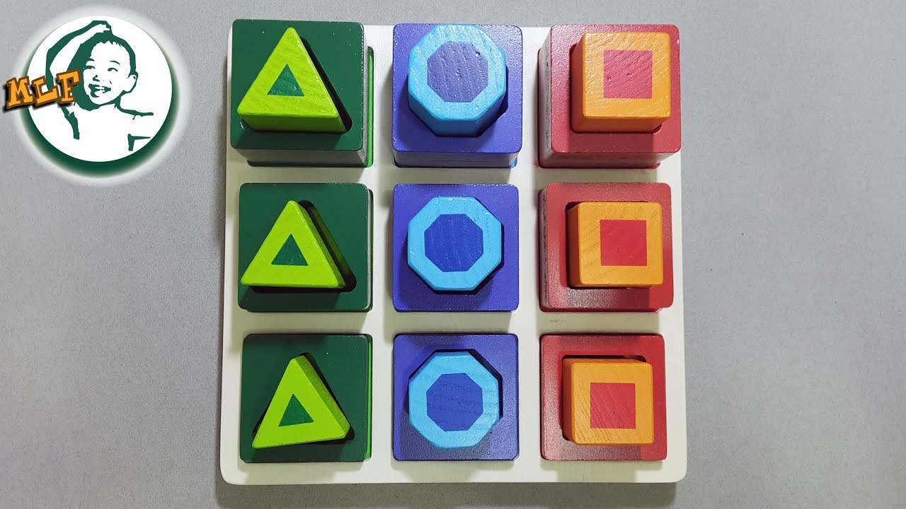 Learn shapes and sequence for kids with Melissa & Doug ...