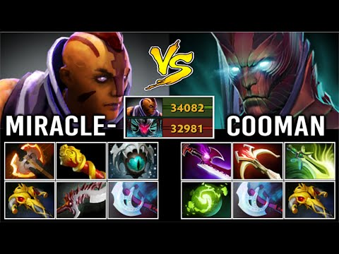 EPIC Miracle- Anti-Mage vs Terrorblade Cooman Crazy Late Game Battle of The Farming Gods 7.27 Dota 2