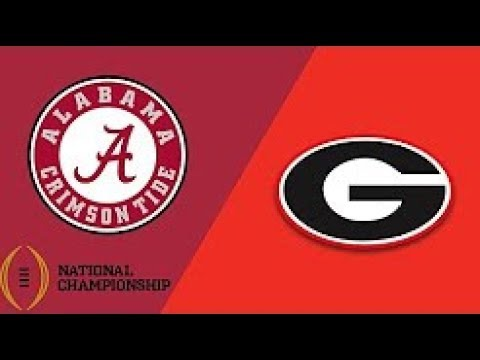 54c318e691f GEORGIA VS ALABAMA National Championship Game 2017 2018 Replay Action! PC  Football