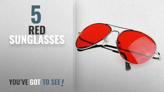 Top 10 Red Sunglasses [2018]: Y.S Sunglasses UV Protected Stylish Unisex Aviators Sunglasses for