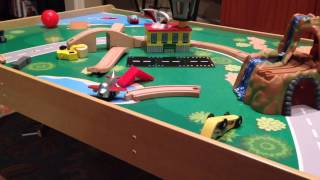 Kid Craft Waterfall Mountain Train Table