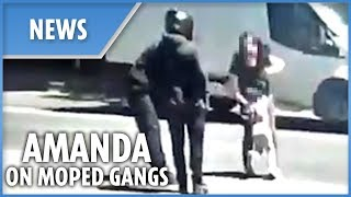 Amanda Holden shares video of moped robbers targeting woman and child in London