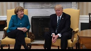 Yet Another Embarrassment, Trump Refuses to Shake Angela Merkel's Hand