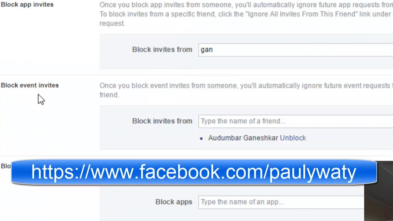 How To Block App Invites In Facebook Youtube