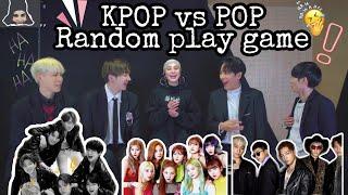 KPOP vs POP RANDOM PLAY DANCE /SONG (GAME) / 0.2 초 케이팝 노래 맞추기 / تحدي 🔥: حاول  ان تعرف اسم الاغنية