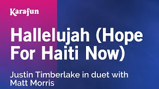 Karaoke Hallelujah (Hope For Haiti Now) - Justin Timberlake *