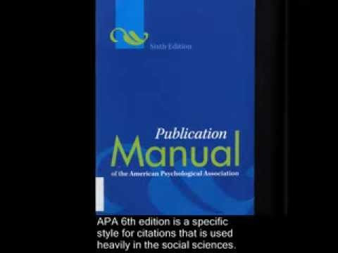 APA 6th Edition Citation Style