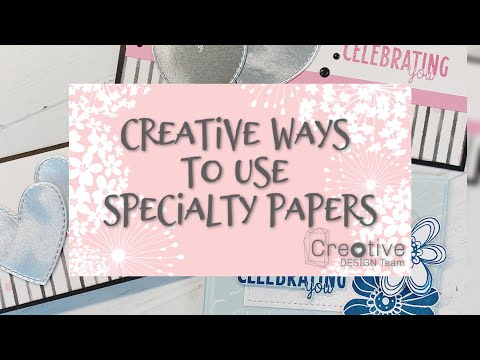 Creative Ways to Use Specialty Papers // Creative Design Team Collab