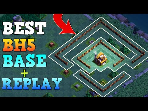 Best Builder Hall 5 Base / BH5 Builder Base W/ Replay! / CoC Anti 2 Star Base Layout   Clash Of Clan