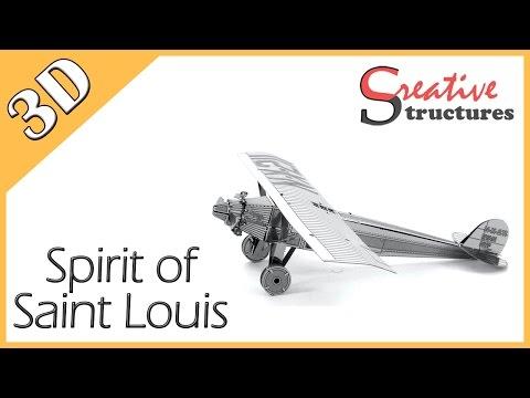 3D metal model & puzzle - Spirit of Saint Louis (Aviation)