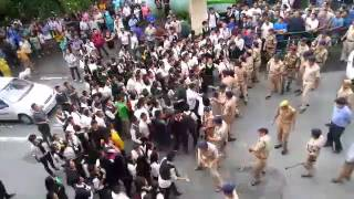 Sikkim Students lathicharge