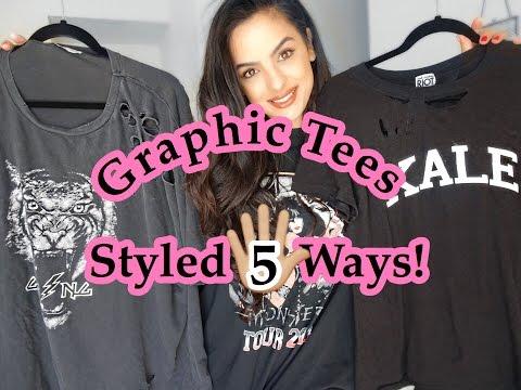 Graphic/Band/Designer Tees Styled 5 Ways!